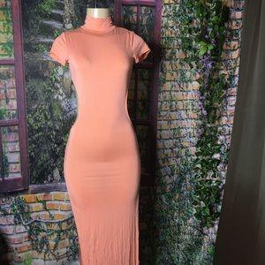 Fashion nova maxi with side slits dress size S 5/6